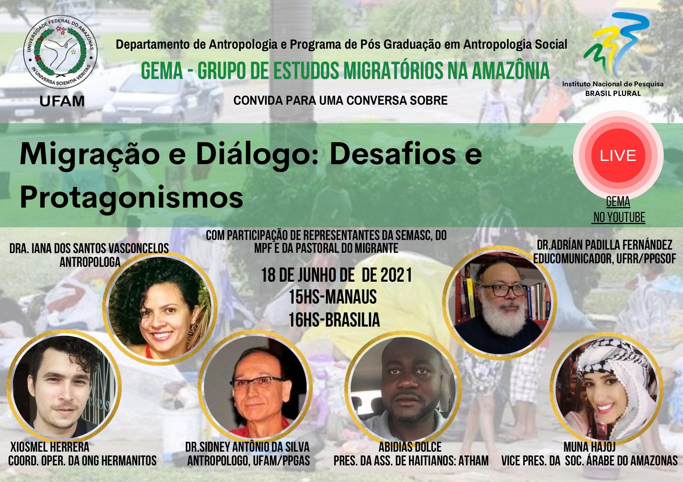 Live - Migrações e Diálogos: Desafios e Protagonismos